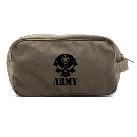 - US Army Skull Canvas Shower Kit Travel Toiletry Bag Case