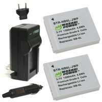 Canon NB-6L, NB-6LH, CB-2LY Battery (2-Pack) and Charger by Wasabi Power