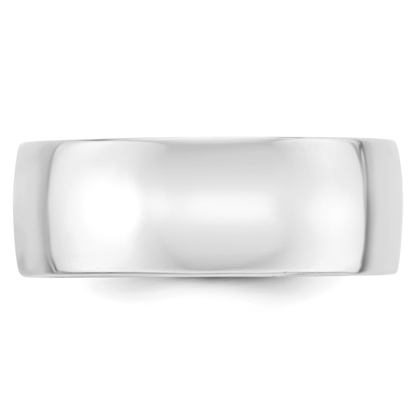 10K White Gold 8mm Light Weight Comfort Fit Band Size 5.5 - image 2 de 3