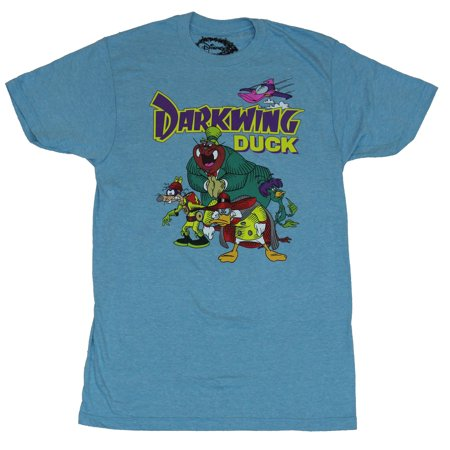 Darkwing Duck Mens T-Shirt - Cast Lead by Darkwing Sneaking Around (Darling Duck)