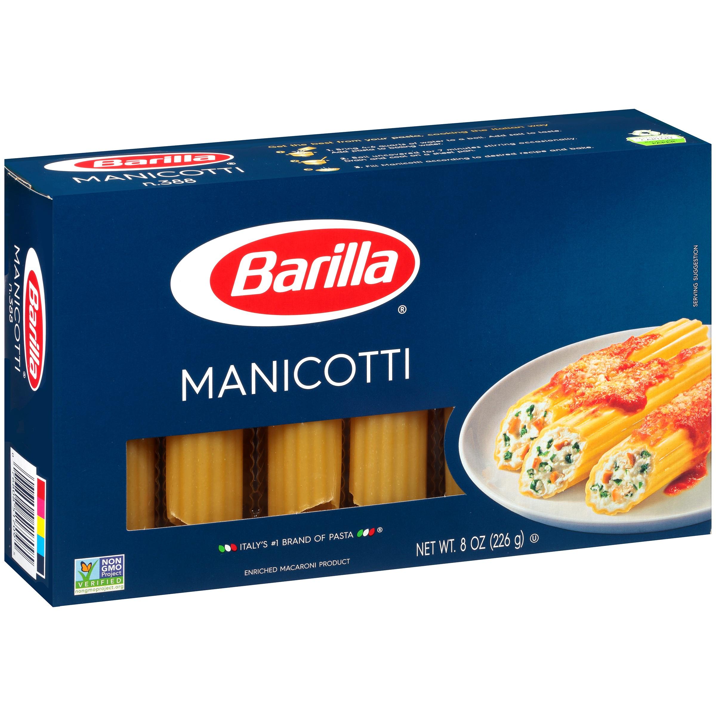 Barilla Manicotti Pasta, 8 oz by Barilla America, Inc.