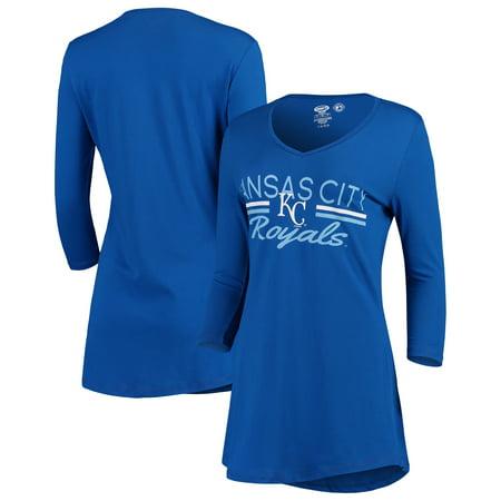 Kansas City Royals Concepts Sport Women's Duo V-Neck Nightshirt - (V-neck Nightshirt)