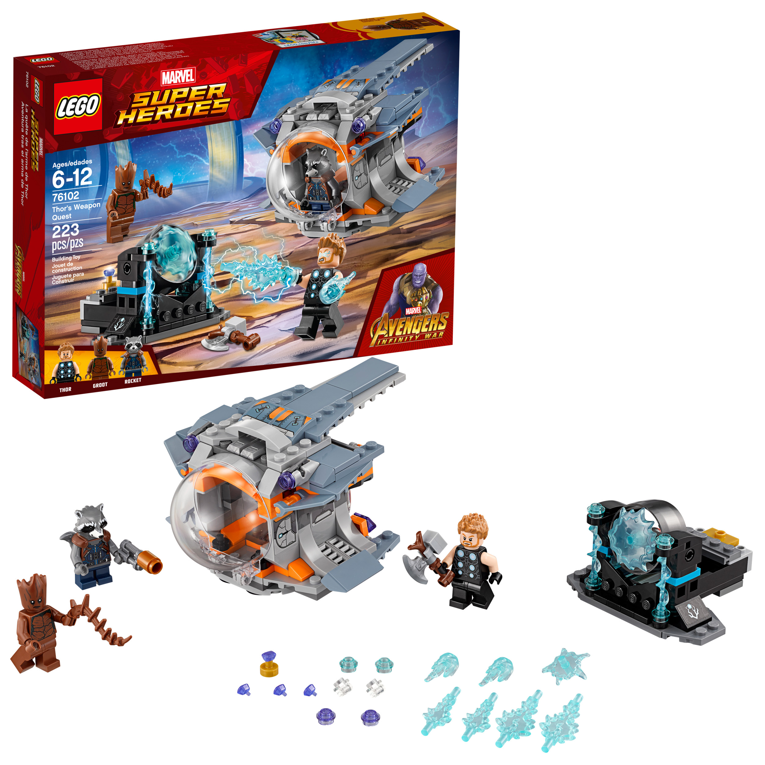 LEGO Marvel Super Heroes Avengers Thor's Weapon Quest 76102