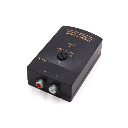 High to Low Line Out 2 RCA Socket Car Audio Speaker Level Converter Adaptor