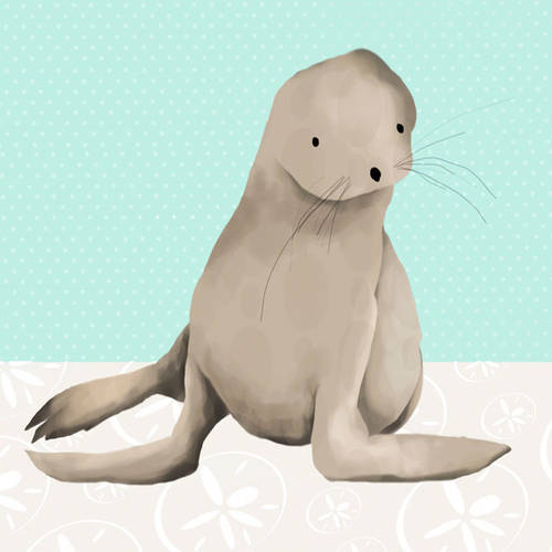 Oopsy Daisy's Sam the Sea Lion Canvas Wall Art, 10x10