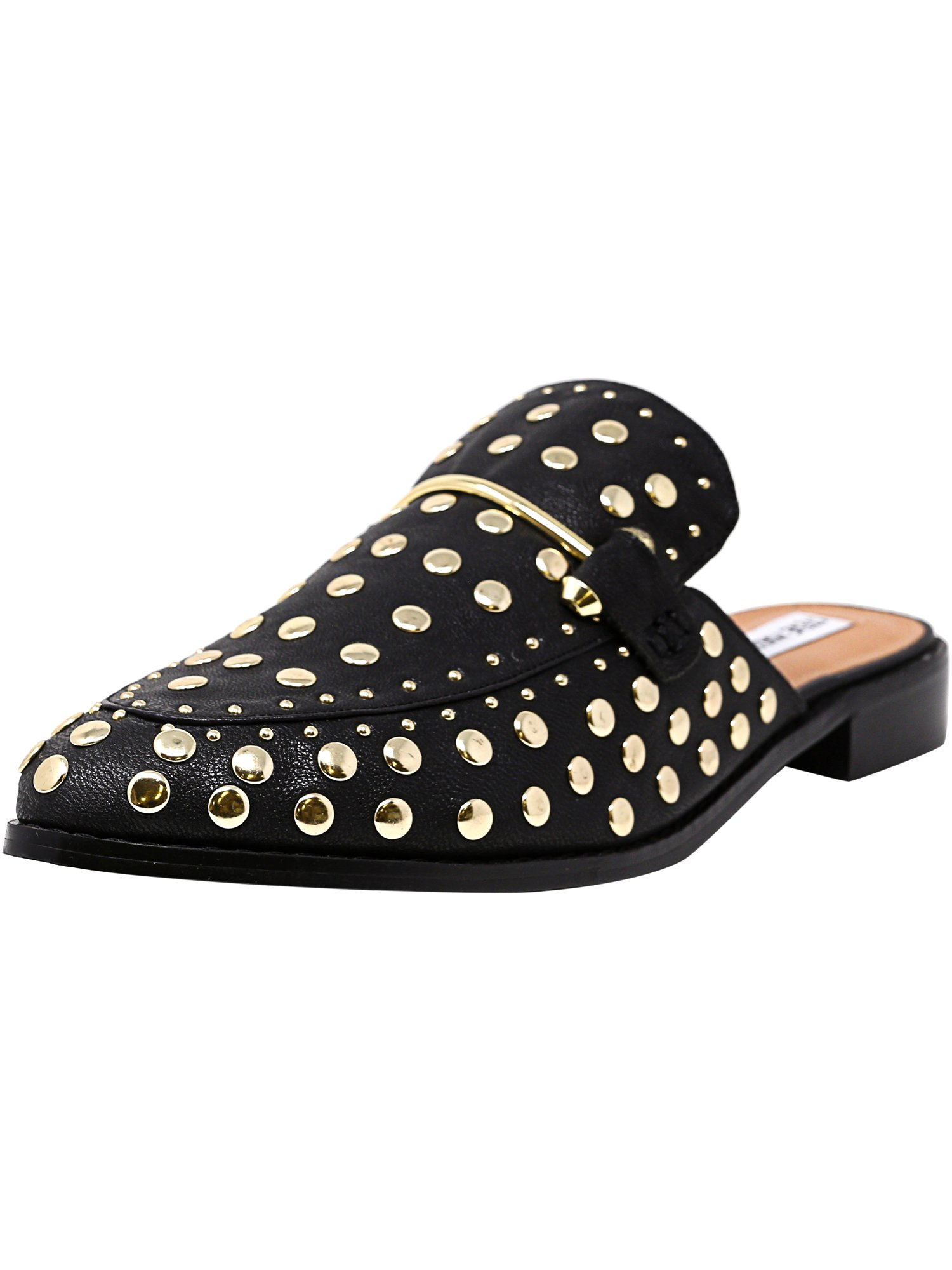 f069c24349e Steve Madden Women's Laaura-S Black With Studs Leather Mules - 11M