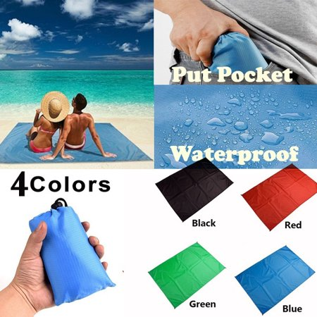 NK Large Beach Mat Sand Free Waterproof Picnic & Beach Blanket for Outdoor Water-Resistant Handy Pocket Mat Sand Free for The Beach,Camping on Grass