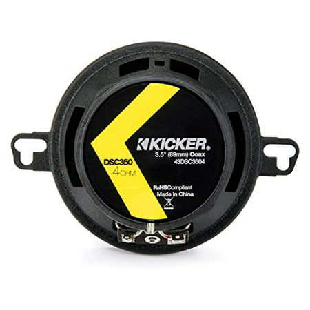 Kicker 43DSC3504 3-1/2-Inch 3.5-Inch 30W 2-Way Speakers DSC35 DS35 Coax (Pair) - image 3 de 3