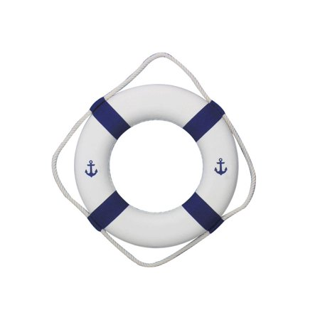 Decorative Anchors (Classic White Decorative Anchor Lifering with Blue Bands 15