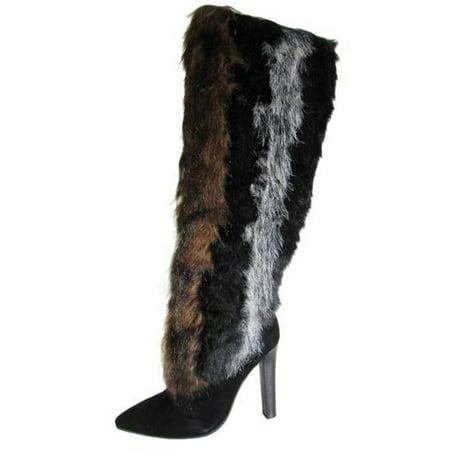 Jeffrey Campbell - Jeffrey Campbell Womens Mouk-2 Knee High Faux Fur Boot  Shoe - Walmart.com c23ffdb902