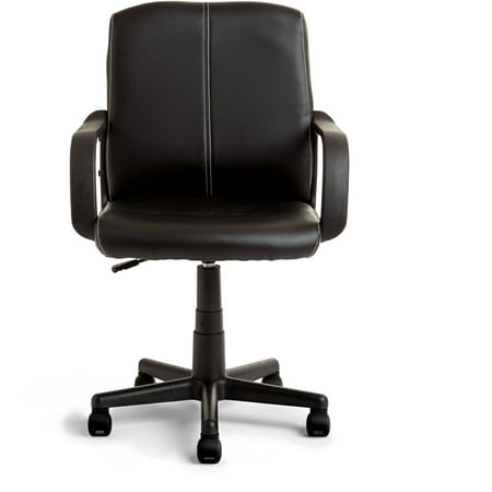 Office Chairs Walmart >> Mainstays Leather Mid Back Rolling Swivel Office Chair