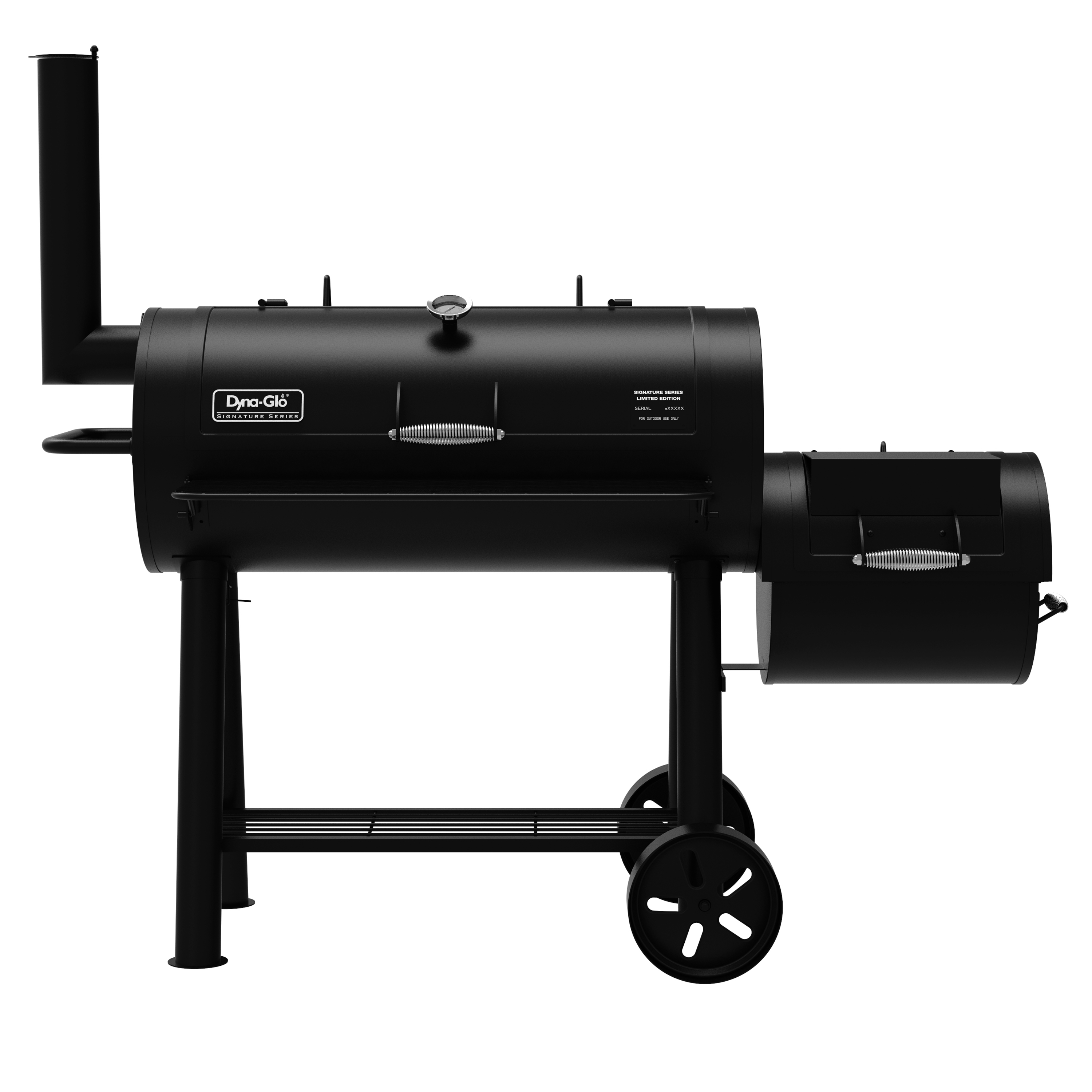 Dyna-Glo Signature Series DGSS962CBO-D Barrel Charcoal Grill & Side Firebox