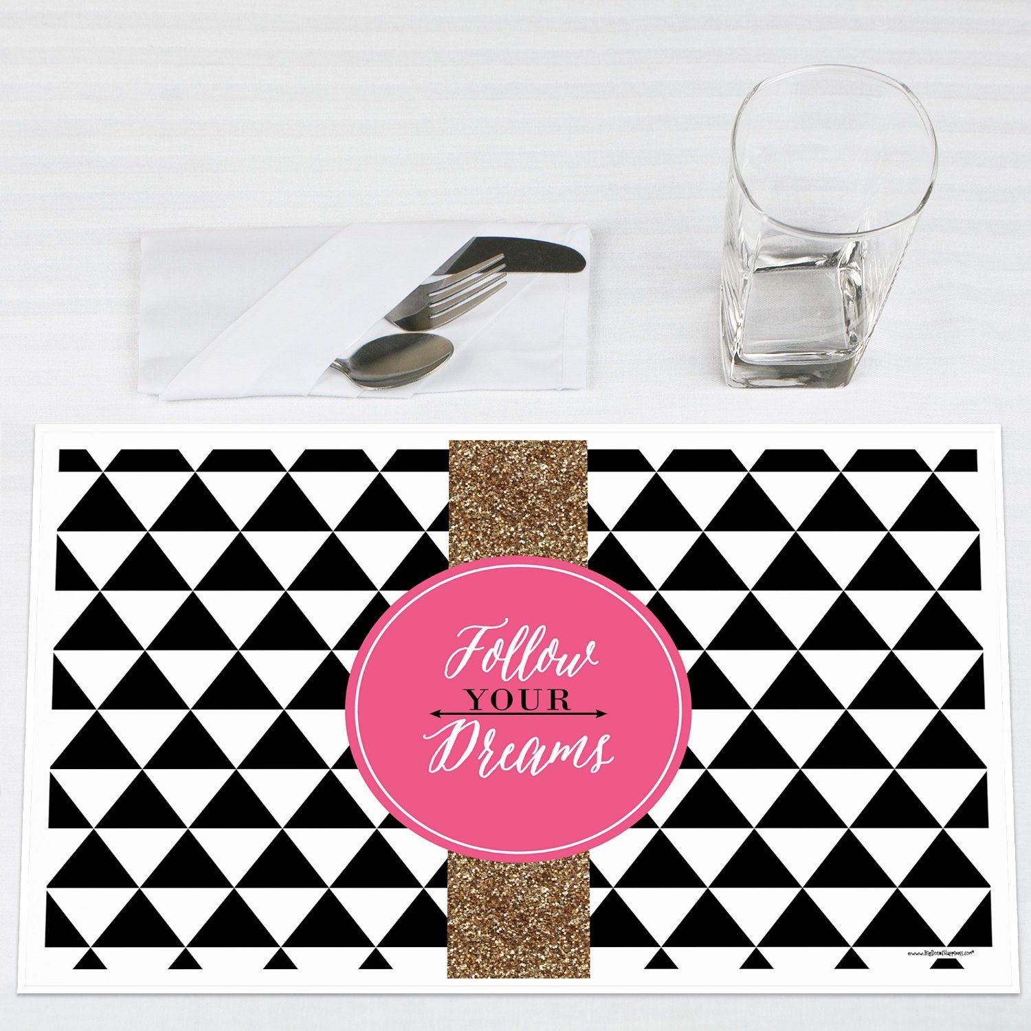 Dream Big Graduation Party Placemats Set of 12 by Big Dot of Happiness, LLC
