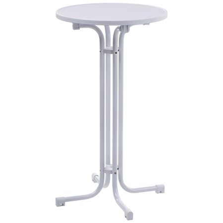 Displays2go 23 5 Round Pub Table With Mdf Top 42 25 Inch Tall Highboy