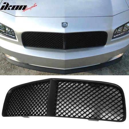 Ikon Motorsports Grille - Fits 05-10 Dodge Charger Black Mesh Front Hood Grill Grille ABS