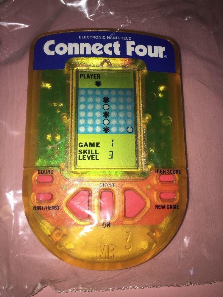 1995 Milton Bradley Connect Four Electronic Hand Held Working R4218 by