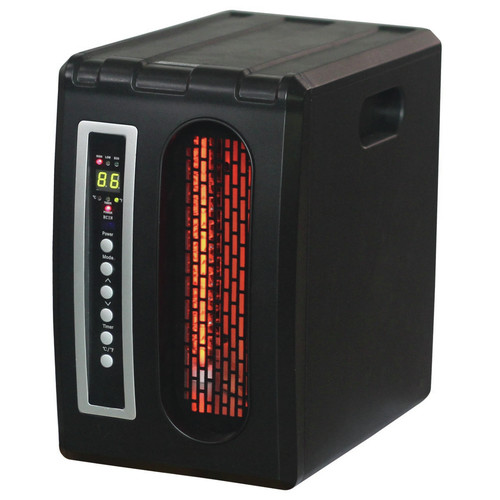 DuraHeat 1,500 Watt Portable Electric Infrared Compact Heater with Remote Control