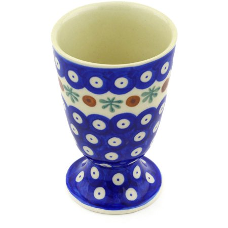 - Polish Pottery 6 oz Goblet (Mosquito Theme) Hand Painted in Boleslawiec, Poland + Certificate of Authenticity