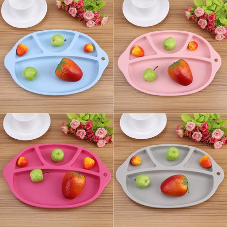 Yosoo Silicone Baby Infant Feeding Plate Fruit Dishes Tray Children Kids Tableware, Baby Feeding Tray, Baby Feeding Plate - image 6 of 8