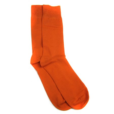 Designer Solid Mens Sock Orange (Mens Orange Dress Socks)