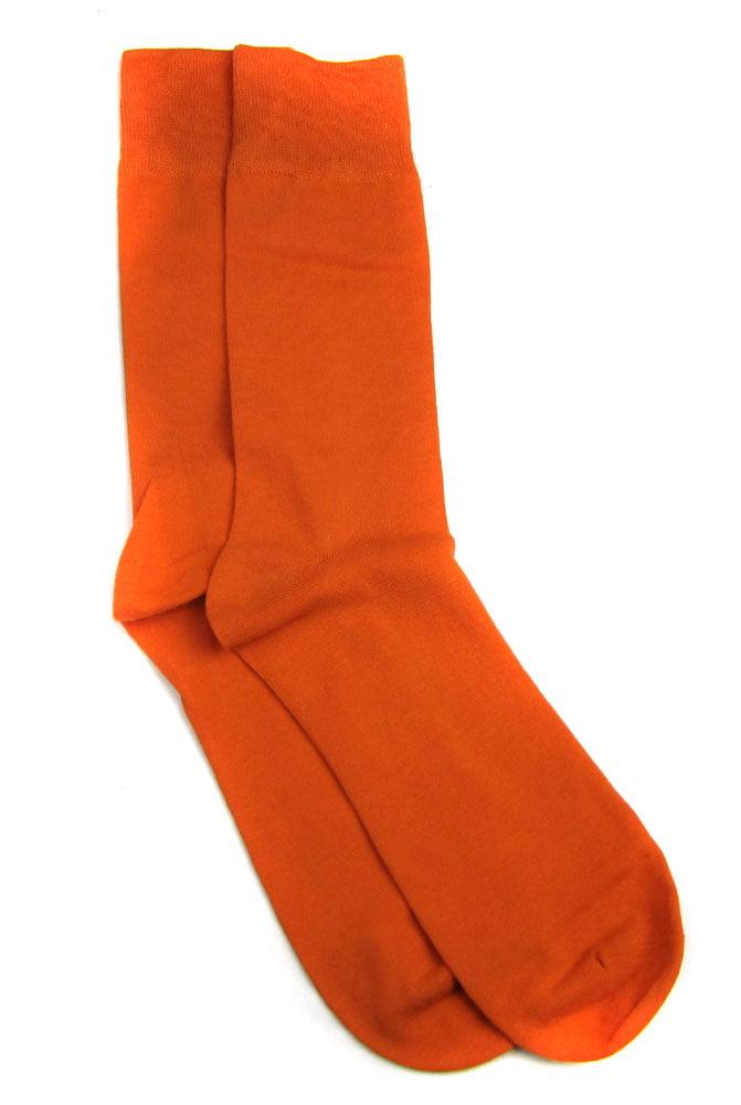 Designer Solid Mens Sock Orange
