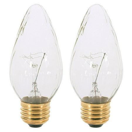 Satco S2769 40W 120V F15 Aurora E26 Medium Base Incandescent lamp - 2 bulbs