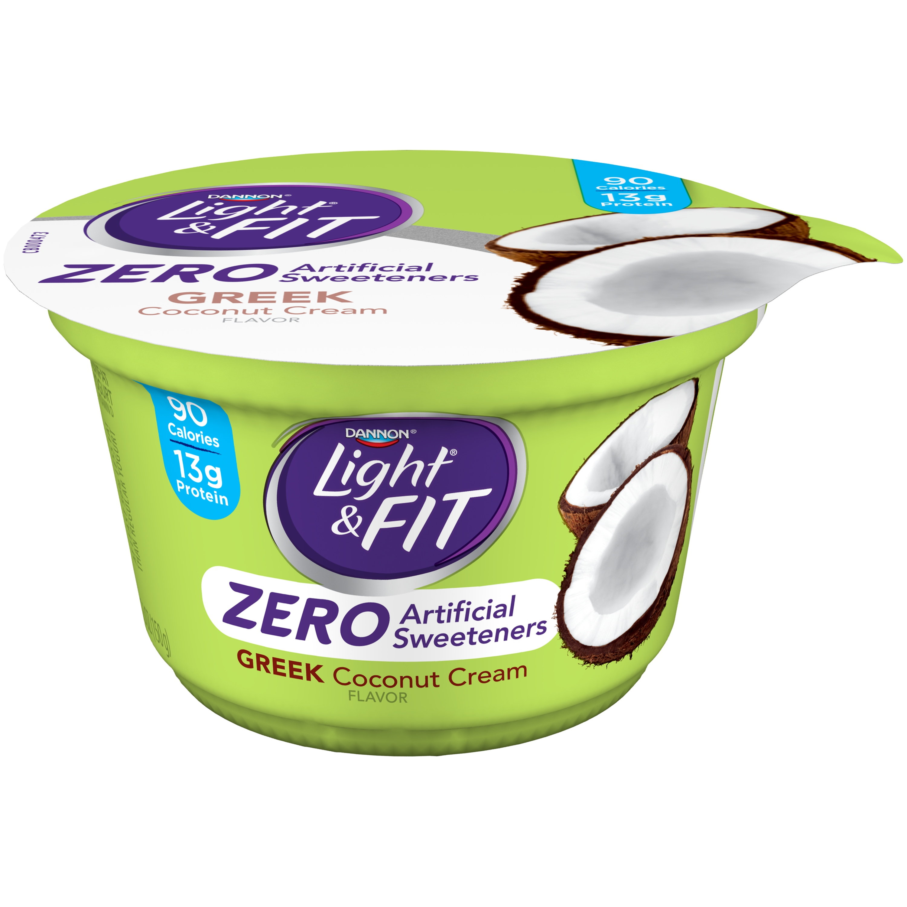 Dannon® Light & Fit® Greek Zero Artificial Sweeteners Nonfat Yogurt Coconut Cream 5.3oz Sing Serve