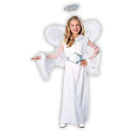 Snow Angel Child Costume M](Easy Creepy Costumes)