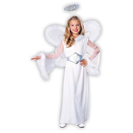Snow Angel Child Costume M](Kids Snow Leopard Costume)