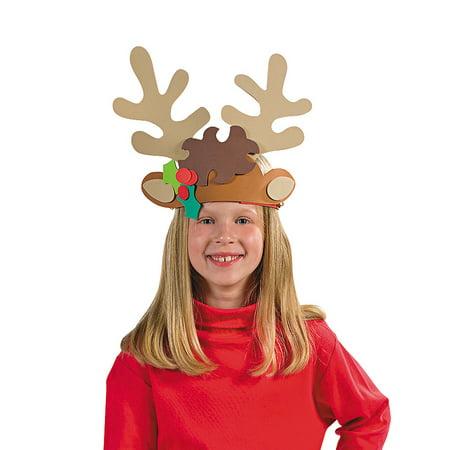 Fun Express - Reindeer Antler Headband Craft Kit for Christmas - Craft Kits - Apparel Craft Kits - Misc Apparel Craft Kits - Christmas - 12 Pieces](Antler Crafts)