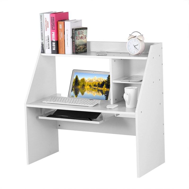 Bed Study Desk,Wooden Storage Shelf Computer Laptop Study Desk Table Organizer for Dormitory Bed / Carpet