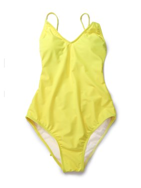 5ec263fcff8e4 Product Image LELINTA Womens One Piece Swimwear Halter Monokini Swimsuits  Soild Color Bikini Bathing Suits White/Yellow