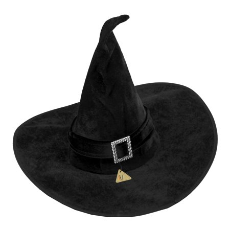 Black Velour Witch Hat Fancy Dress - B&m Halloween Fancy Dress