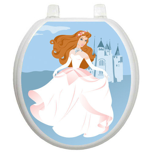 Toilet Tattoos Youth Fairy Princess Toilet Seat Decal