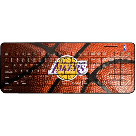 Los Angeles Lakers Basketball Design Wireless USB Keyboard by Keyscaper by