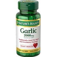 Nature's Bounty Garlic Tablets, 2000 Mg, 120 Ct