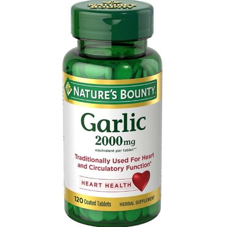 Nature's Bounty Garlic Tablets, 2000 Mg, 120 Ct