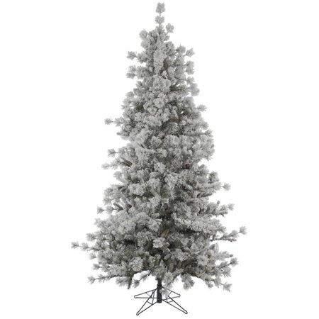 15' Slim Flocked Anchorage Artificial Christmas Tree ...
