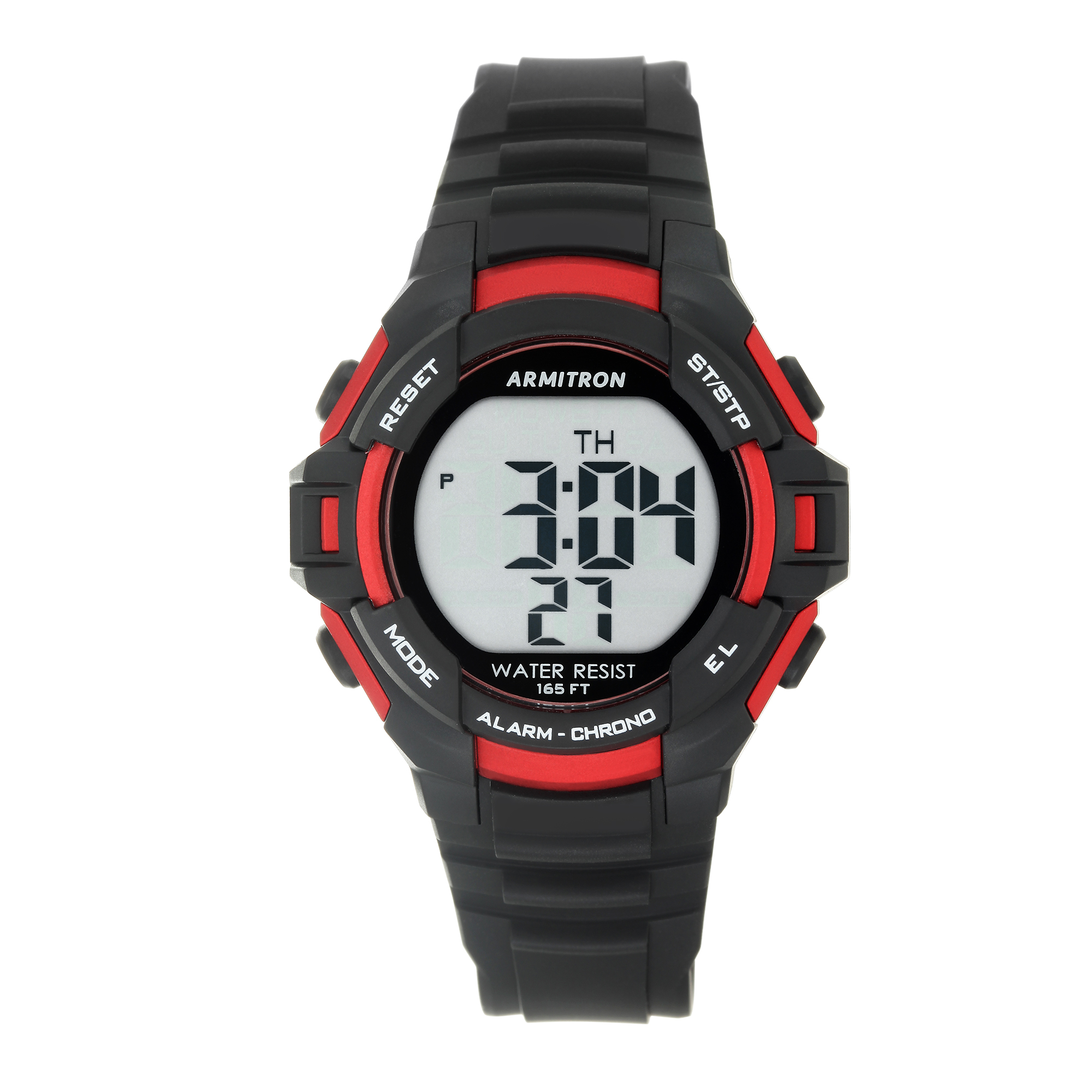 Armitron Men's Round Sport Watch, Red