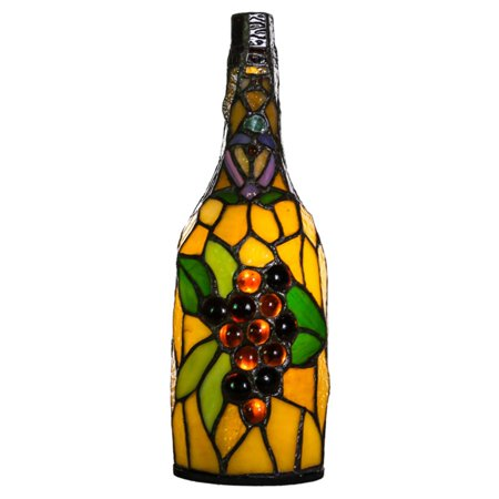 River of goods 13776s stained glass wireless wine bottle table lamp river of goods 13776s stained glass wireless wine bottle table lamp aloadofball Choice Image