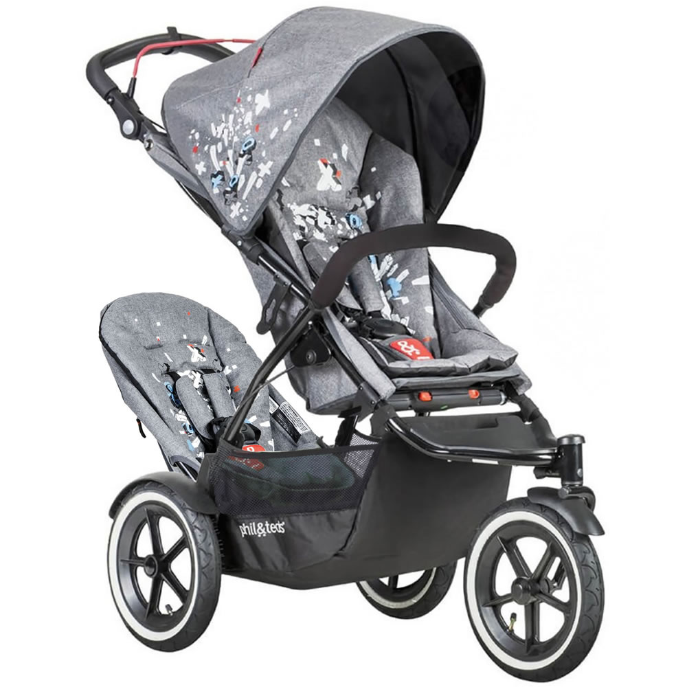 PHIL&TEDS phil Sport Stroller with Double Seat Kit - Graf...