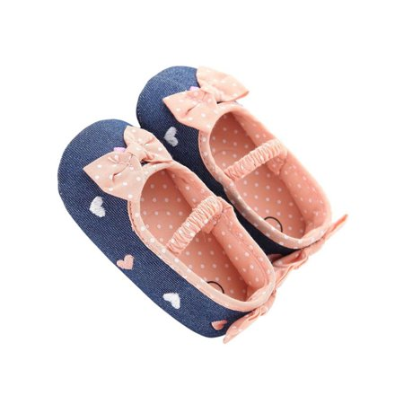 Babula Baby Girl Soft Sole Crib Prewalker Shoes to 0-18M
