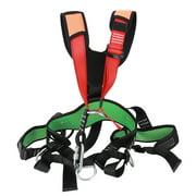 Brrnoo Safety Belt Equipment,Aerial Survival Equipment,Outdoor Sports Rock Climbing Harness Waist Support High Strength Wearable Safety Belt