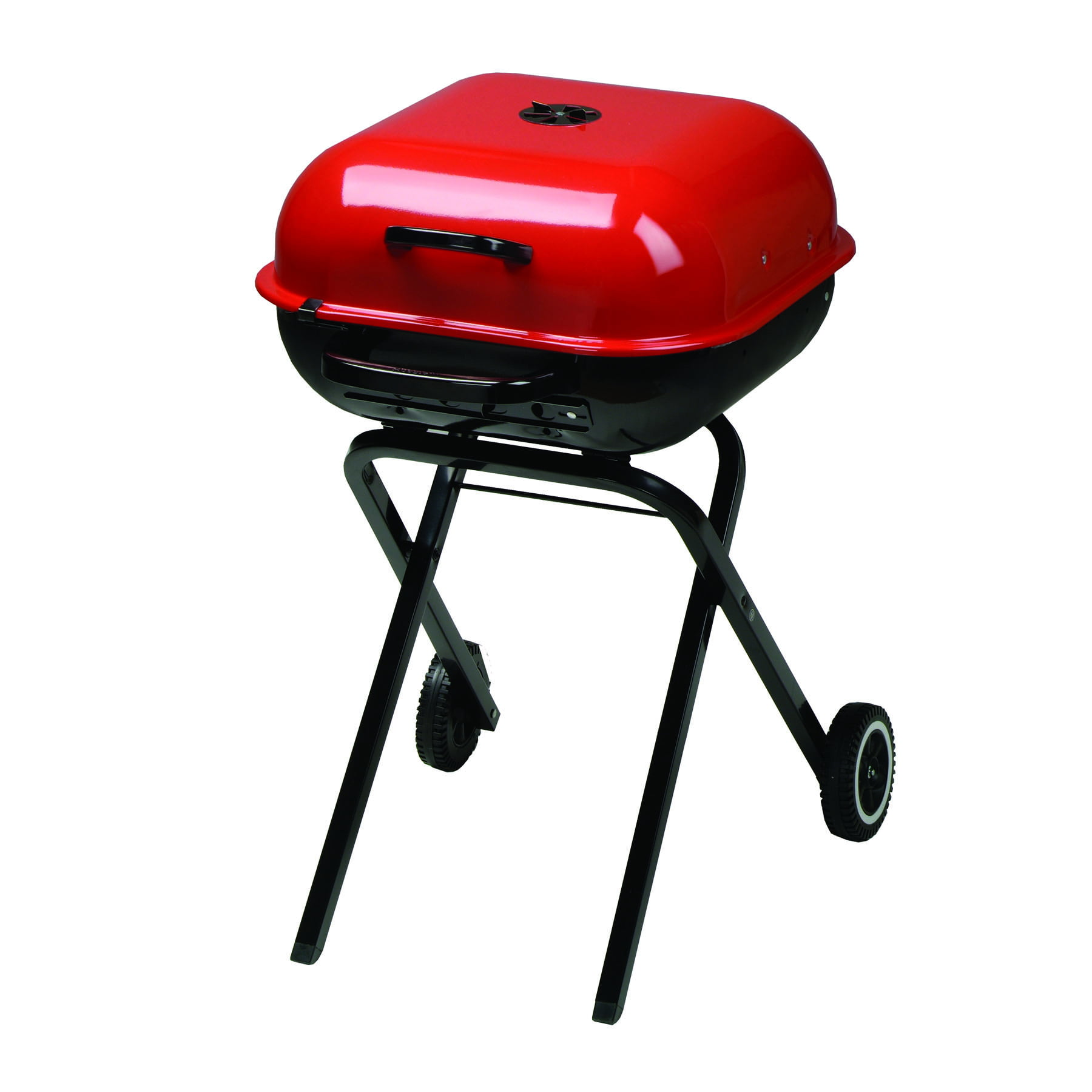 Americana Walk-A-Bout Charcoal Grill in Red