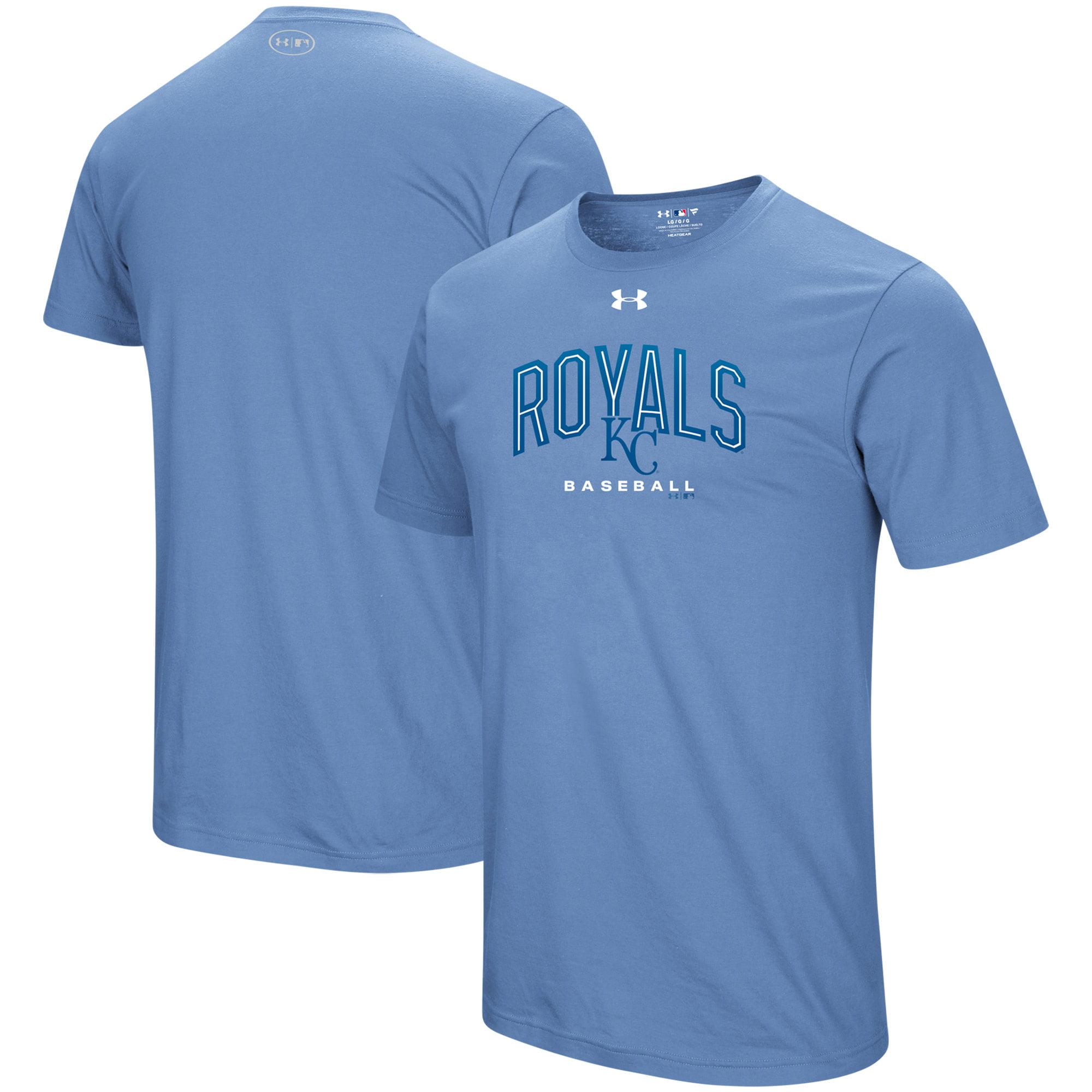 Kansas City Royals Under Armour Performance Arch T-Shirt - Light Blue