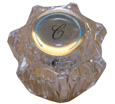 LARSEN SUPPLY CO., INC. Delta Clear Twin Lavatory & Kitchen Faucet Handle HC-111