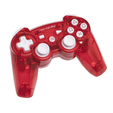 PDP Rock Candy PS3 Wireless Controller, Stormin' Cherry, 6432RE