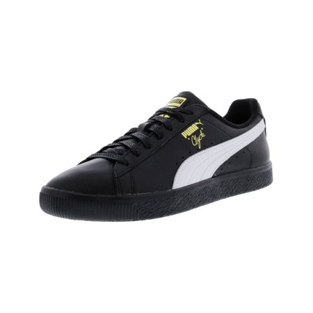 promo code c621f 265ed Puma Men's Clyde Black / White Gold Ankle-High Leather Fashion Sneaker - 9M
