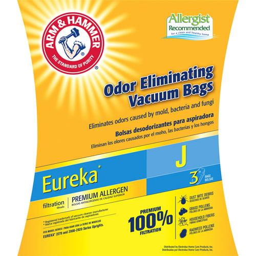 Arm & Hammer 3-Pack Odor Eliminating Vacuum Bags, Eureka J ™ Premium Allergen