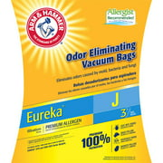Arm & Hammer 3-Pack Odor Eliminating Vacuum Bags, Eureka J ™ Premium Allergen